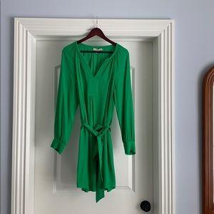 Banana Republic green dress with belt